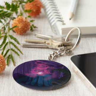 Fortune Tellers Tent Basic Round Button Key Ring