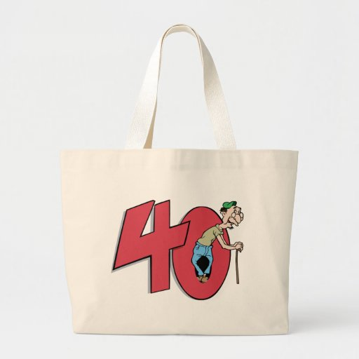 Forty - 40 year old Birthday Greeting Tote Bag
