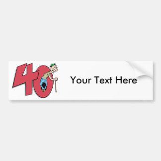 Forty - 40 year old Birthday Greeting Car Bumper Sticker