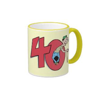 Forty - 40 year old Birthday Greeting Coffee Mug