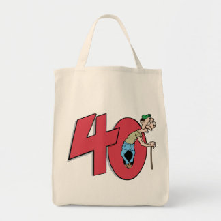 Forty - 40 year old Birthday Greeting Bag