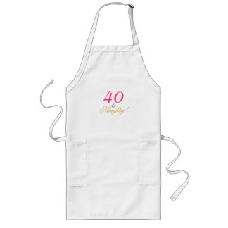 Forty and Naughty! Long Apron