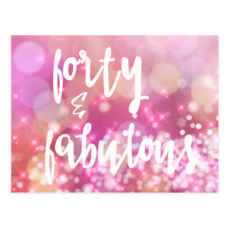 Forty & Fabulous - 40th Birthday Card