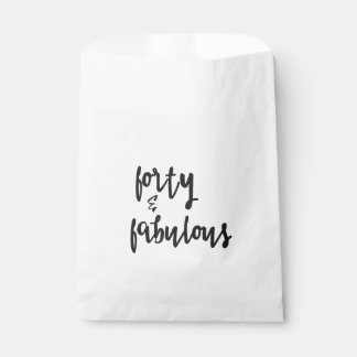 Forty & Fabulous - Fun 40th Birthday Favour Bags