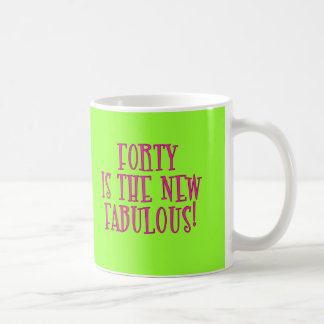 Forty is the New Fabulous Products Basic White Mug