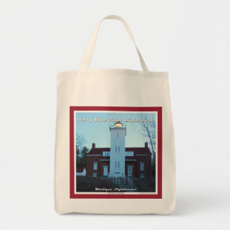 Forty Mile Point Lighthouse - Grocery Tote Grocery Tote Bag