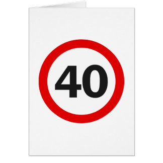 Forty Road Sign Greeting Card