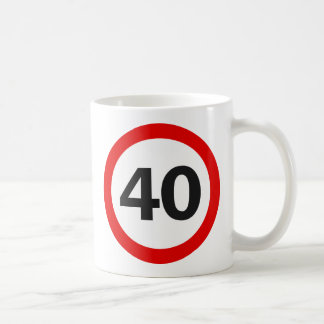 Forty Road Sign Coffee Mug