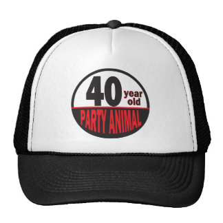 Forty Year Old Party Animal | 40th Birthday Cap