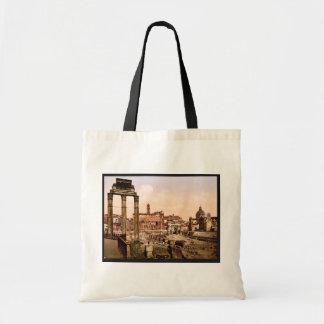Forum Boario Rome Italy vintage Photochrom Canvas Bag