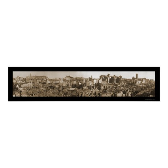 Forum Panorama Rome Photo 1909 Poster
