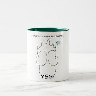 Forum troll Two-Tone coffee mug