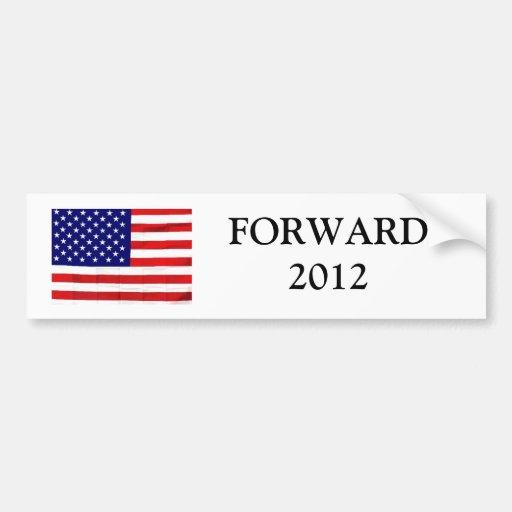 Forward Democrat Bumper Sticker, Obama 2012