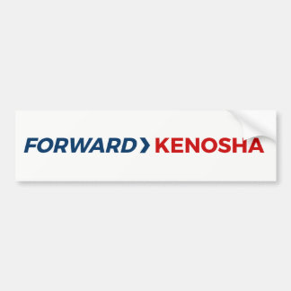Forward Kenosha Bumper Sticker