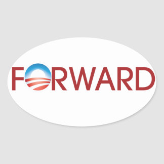Forward Oval Sticker