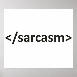 Forward Slash Sarcasm Code Poster