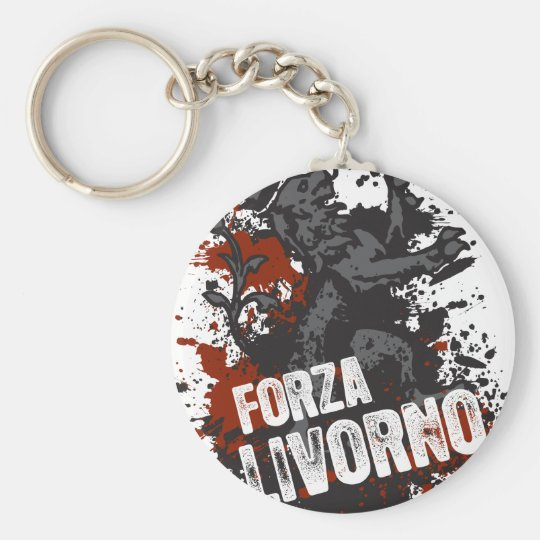Forza Livorno Basic Round Button Key Ring