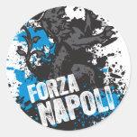 Forza Napoli Round Sticker