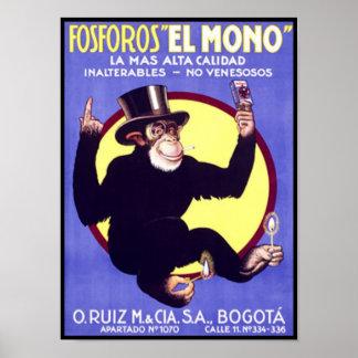 Fosforos El Mono Cuban Cigars Print
