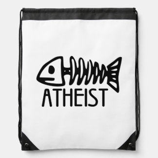 Fossil Atheist Drawstring Backpacks