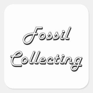 Fossil Collecting Classic Retro Design Square Sticker