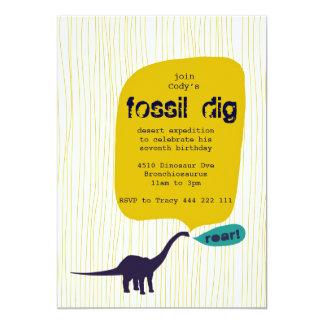 Fossil Dig 13 Cm X 18 Cm Invitation Card