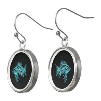 Fossil Fish Earrings