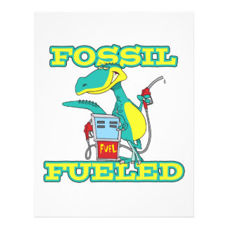 FOSSIL FUELED funny dinosaur cartoon Personalized Flyer