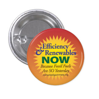 """Fossil Fuels are So Yesterday """"Sunny Edition"""" 3 Cm Round Badge"""