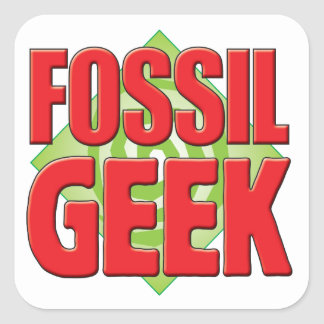 Fossil Geek v2 Square Sticker