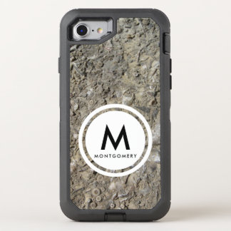 Fossil Hash Limestone Monogram OtterBox Defender iPhone 8/7 Case