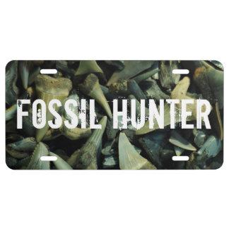 Fossil Hunter Shark Teeth Plate License Plate