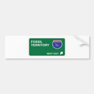 Fossil Next Exit Bumper Stickers