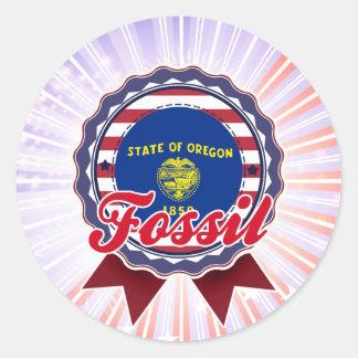 Fossil, OR Round Sticker