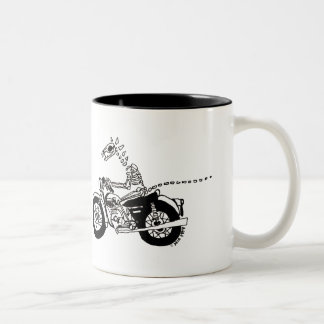 Fossil Rider in black Two-Tone Mug