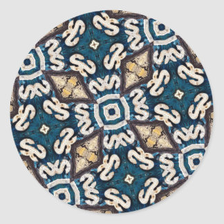 Fossil Road Mosaic Round Sticker