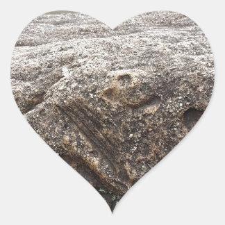 Fossil Rock Heart Sticker
