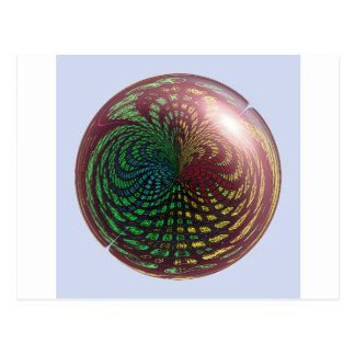 Fossil Wave Sphere Postcard