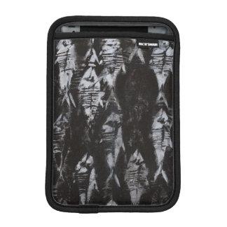 Fossil White Fish on Black Background iPad Mini Sleeve