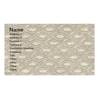 FOSSILIZED JESUS FISH PACK OF STANDARD BUSINESS CARDS