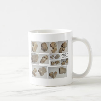 FOSSILIZED MAMMAL VERTEBRA COFFEE MUGS