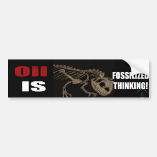 Fossilized Thinking Bumper Sticker