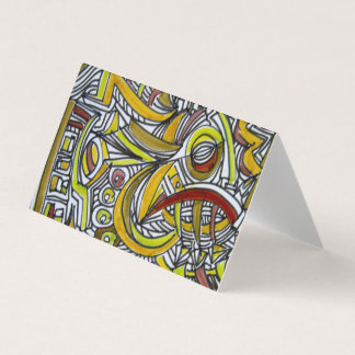 Fossils-Abstract Art Geometric Business Card