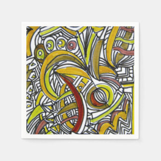 Fossils-Abstract Art Geometric Disposable Napkins
