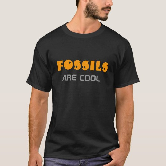 'Fossils are cool' men's black t-shirt