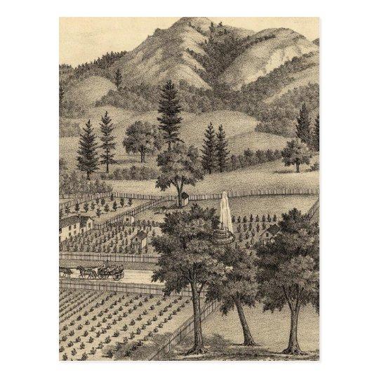 Fossville Res of Clark Foss, Knights Valley Postcard