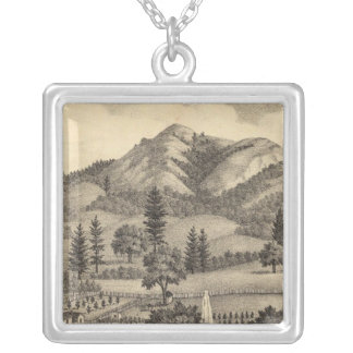 Fossville Res of Clark Foss, Knights Valley Silver Plated Necklace