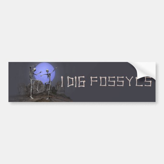 Fossyls Bumper Sticker