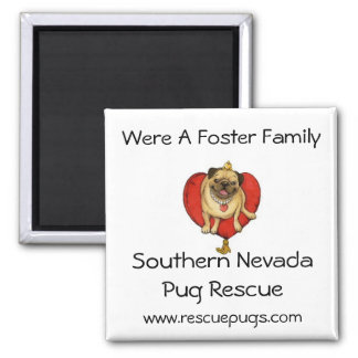 Foster Family Magnet, Southern NevadaPug ... Square Magnet