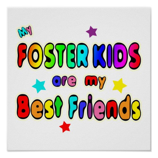 Foster Kids Best Friends Poster | Zazzle Friends With Kids Poster